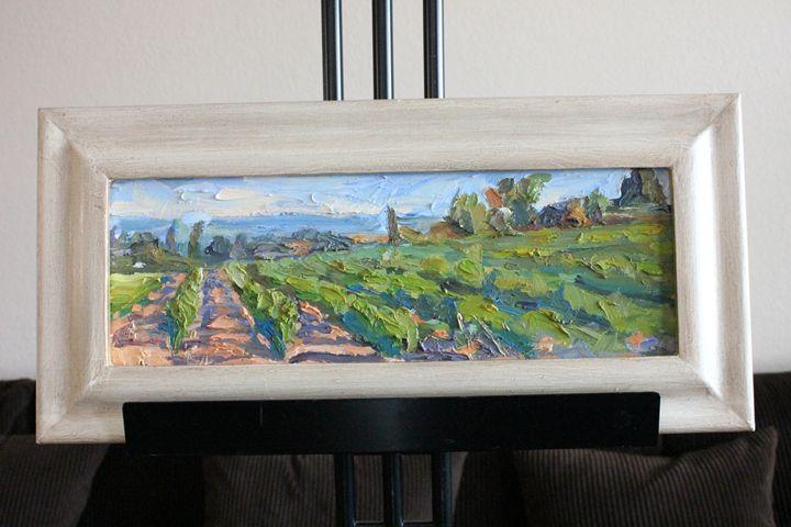 "Tin Odescalchi 'Vines' Oil 6.5"" x 19 - Erman Agustin Cruz Art Gallery"