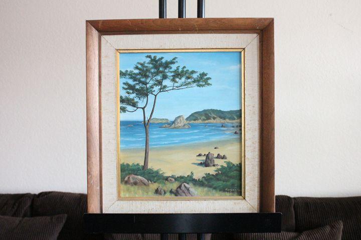 """Beach Coast by Harper (signed)"" - Erman Agustin Cruz Art Gallery"
