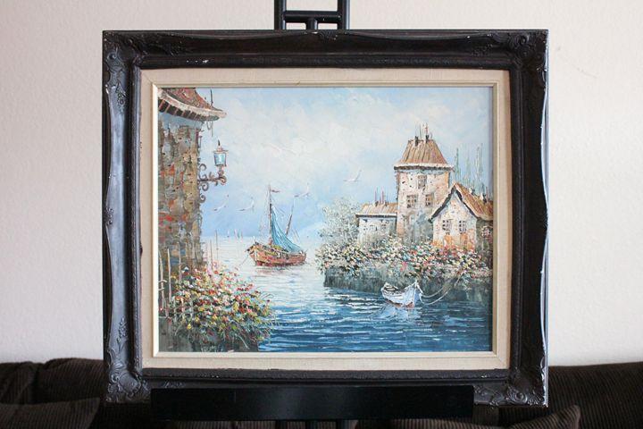 House & Boat by R.Danford - Erman Agustin Cruz Art Gallery