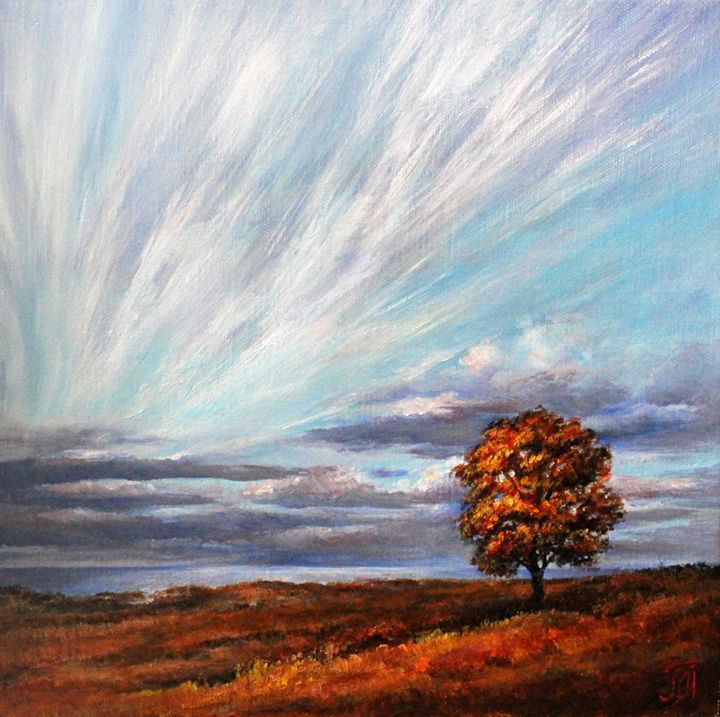 Autumn evening - Leonid Polotsky
