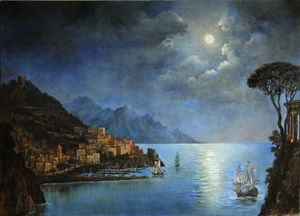 Classical landscape. Night