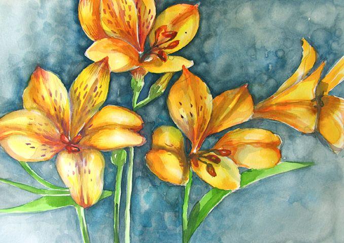 Yellow Flowers 2 - ArtDecorStudio