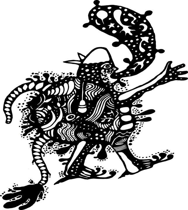 tailed man - GALIH KUSMAWAN