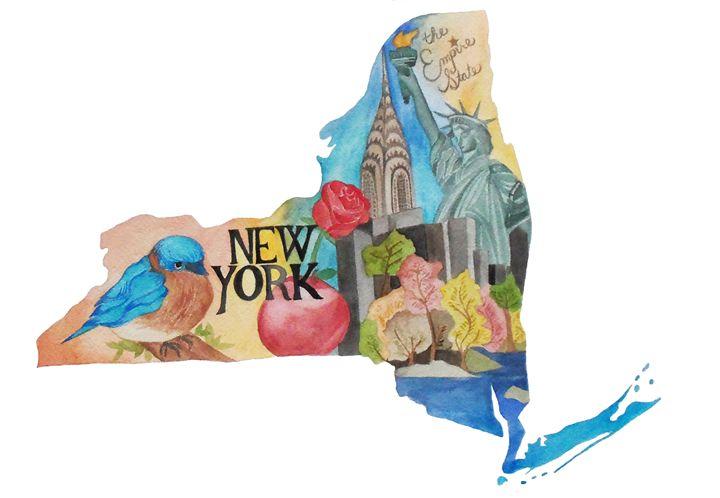 New York the Empire State - Bluebells & Butterflies