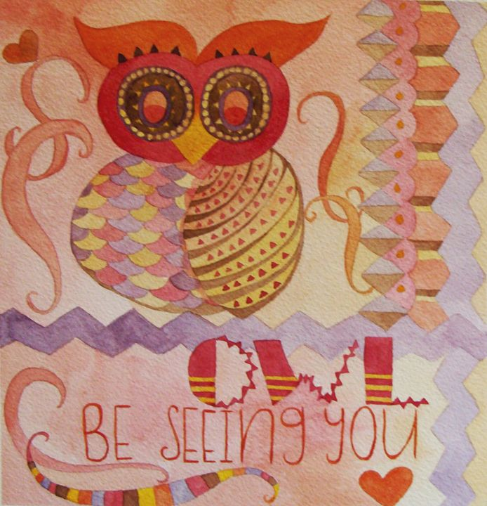 Owl Be Seeing You - Bluebells & Butterflies