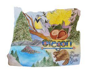 Oregon the Beaver State - Bluebells & Butterflies