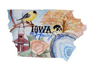 Iowa the Hawkeye State - Bluebells & Butterflies