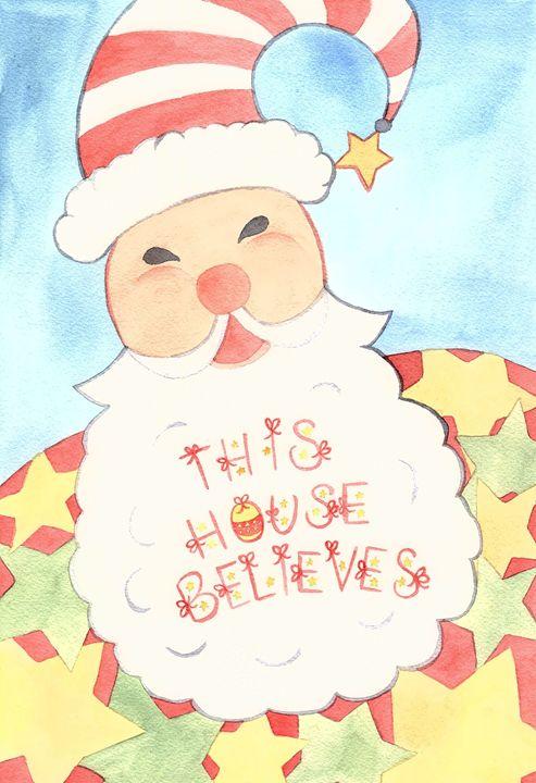 We Believe in Santa - Bluebells & Butterflies