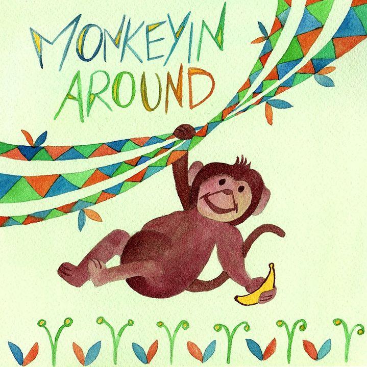 Monkeyin Around - Bluebells & Butterflies