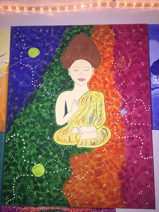 Abstract buddha painting - Dimelomari