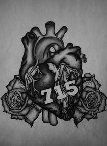 Anatomical Heart Tattoo Design