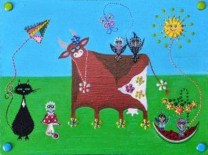Cat Adventures - Cow
