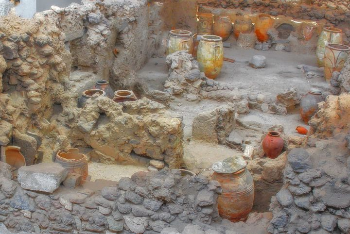 Ancient Ruins of Akrotiri Santorini - Artscapes Studio