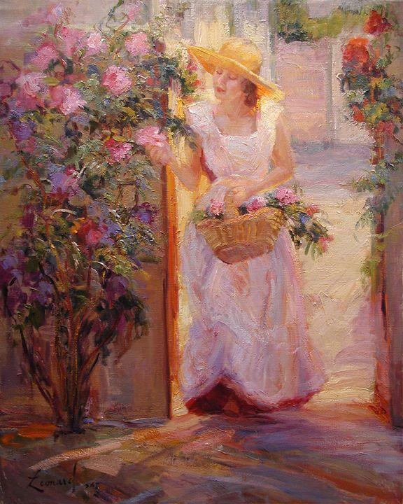 """Pink Roses"" - Diane Leonard"