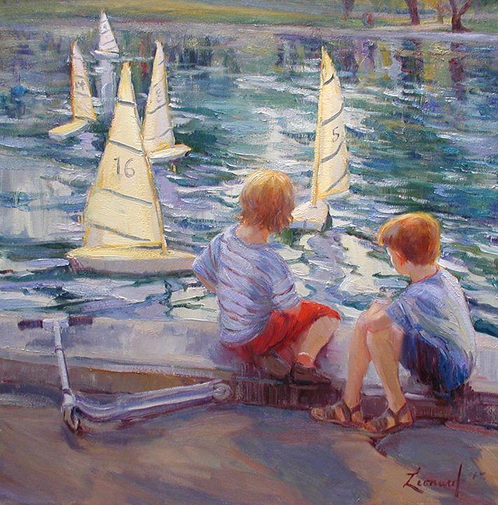 New York Boats - Diane Leonard
