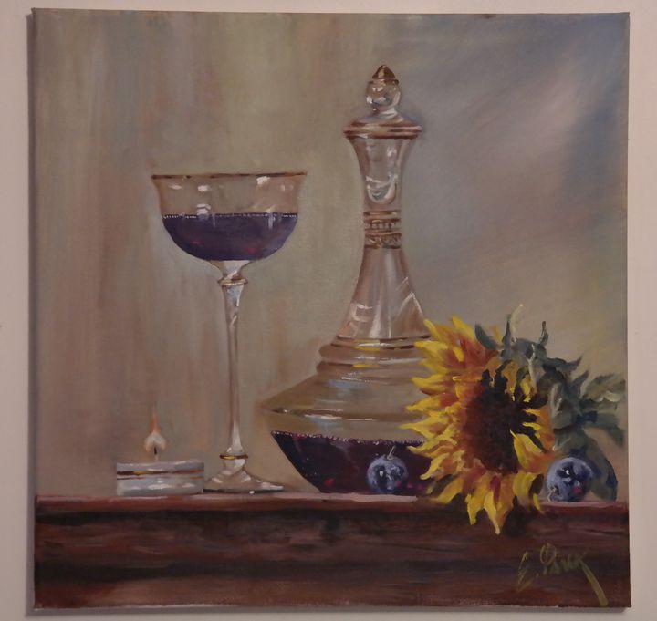 Sunflowers and Wine - Yelena Falkovsky