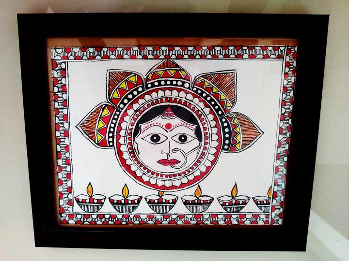 Durga Maa - Mithila Painting