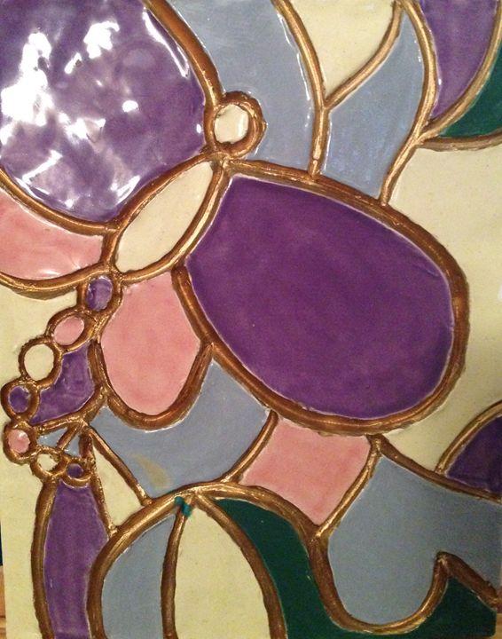 Dragonfly Mosaic Plate - Karen Carney