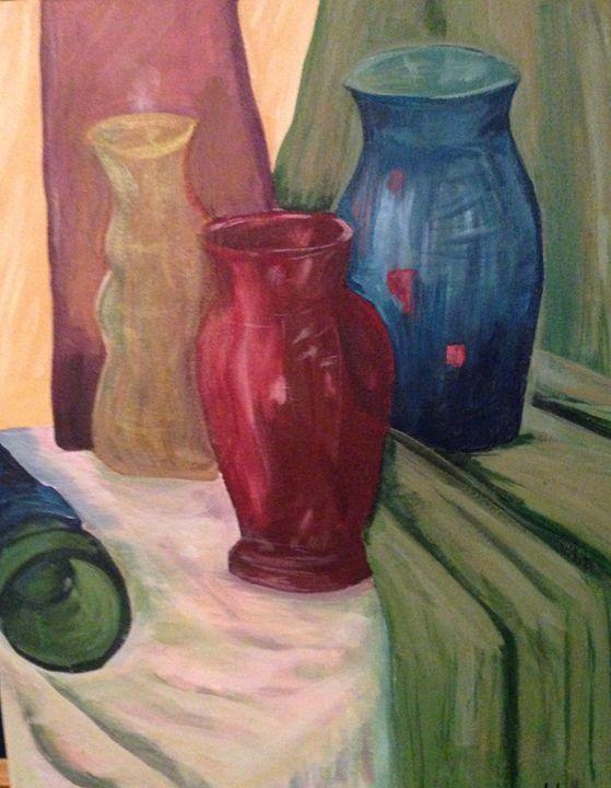 Glass Bottles Still Life - Karen Carney