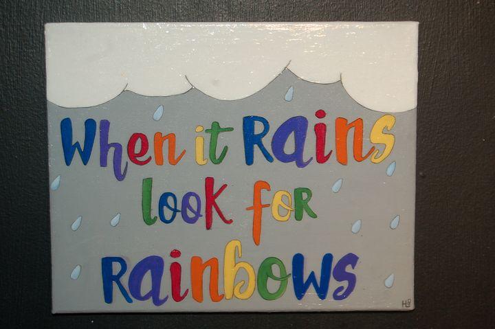 8x10 INSPIRE- Look for Rainbows-ORIG - AcrylicToad