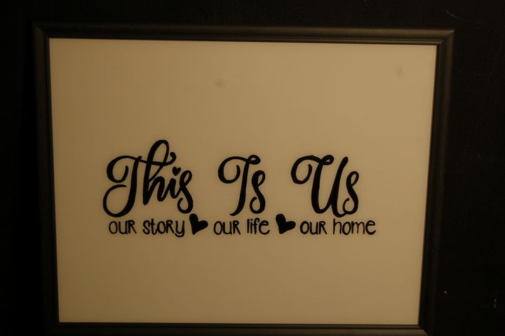 This is US- GLASS PAINTING - AcrylicToad