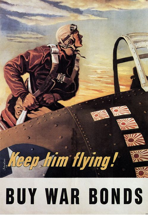 Keep him flying Buy War Bonds - The Muirhead Gallery