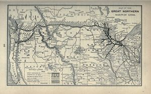 Great Northern Railway Lines Map - The Muirhead Gallery