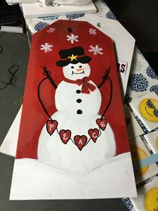 Snowman Gift Tag-Large