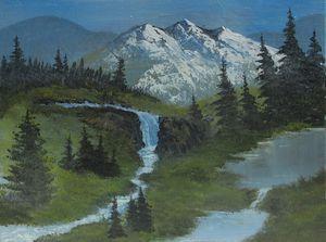 Meadow waterfall