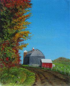 Sunlight on a barn