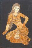 Village Girl Straw Art