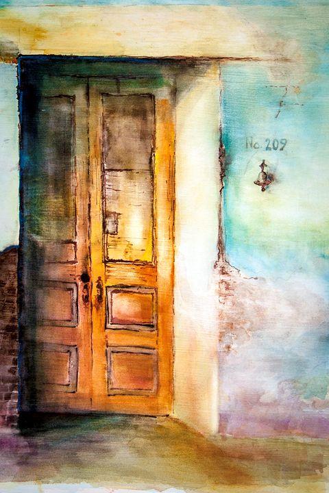 A french Door - Philip Lodwick Wilkinson