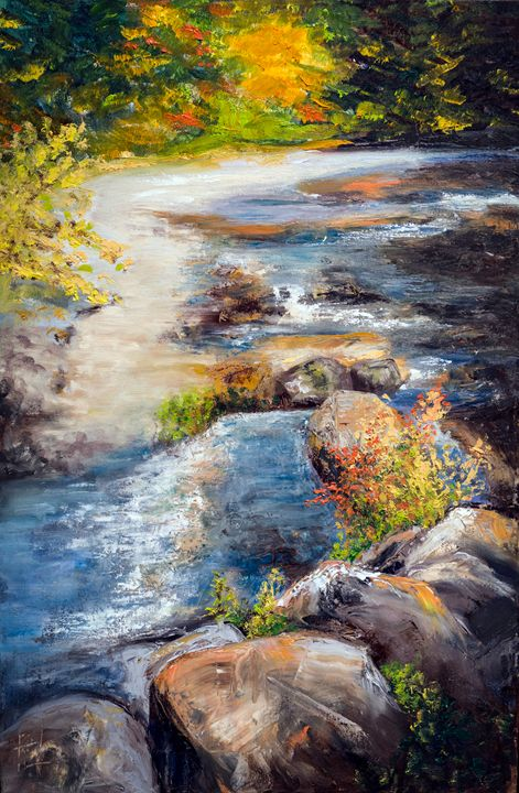 Fall and the Rapids, New Hampshire - Philip Lodwick Wilkinson