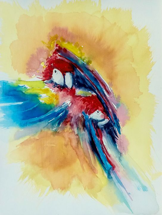 Moulting Macaws - Philip Lodwick Wilkinson