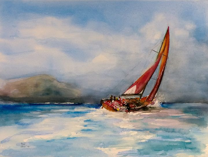 Red Sails - Philip Lodwick Wilkinson