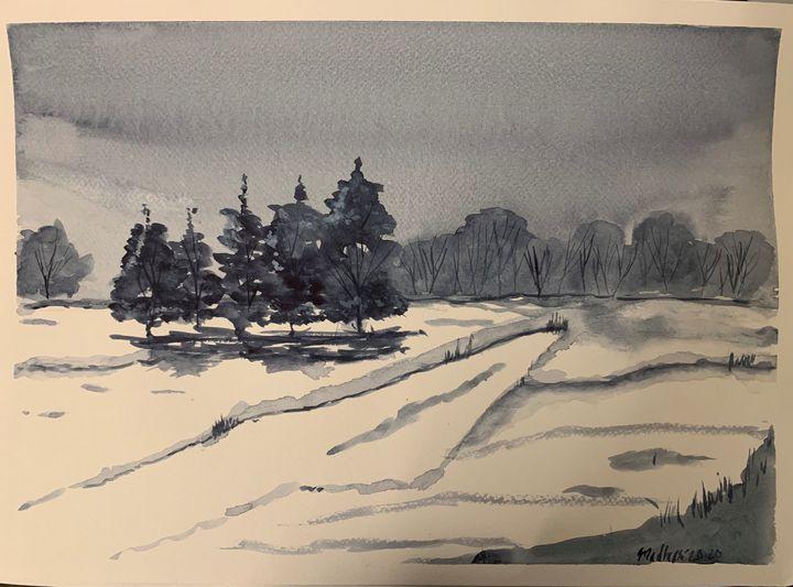 Winter landscape - Madhur's art