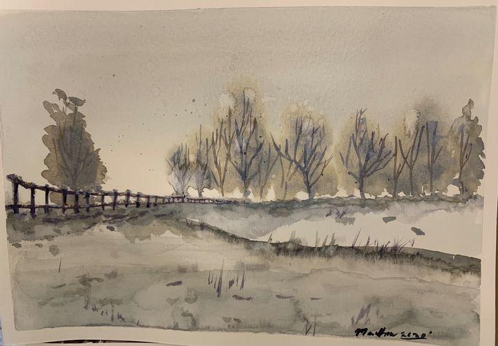 Frosty farm - Madhur's art