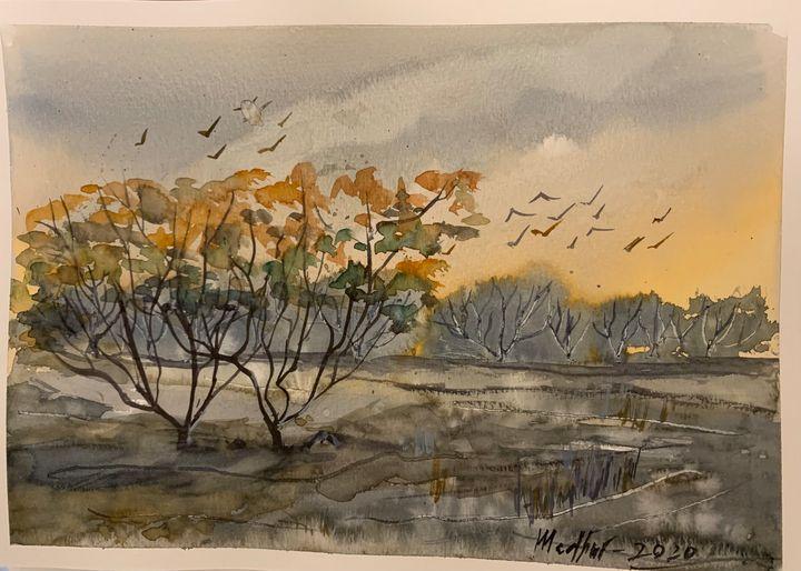 Craggy landscape - Madhur's art