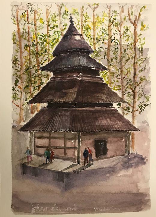 Hadimba Temple Manali - Madhur's art