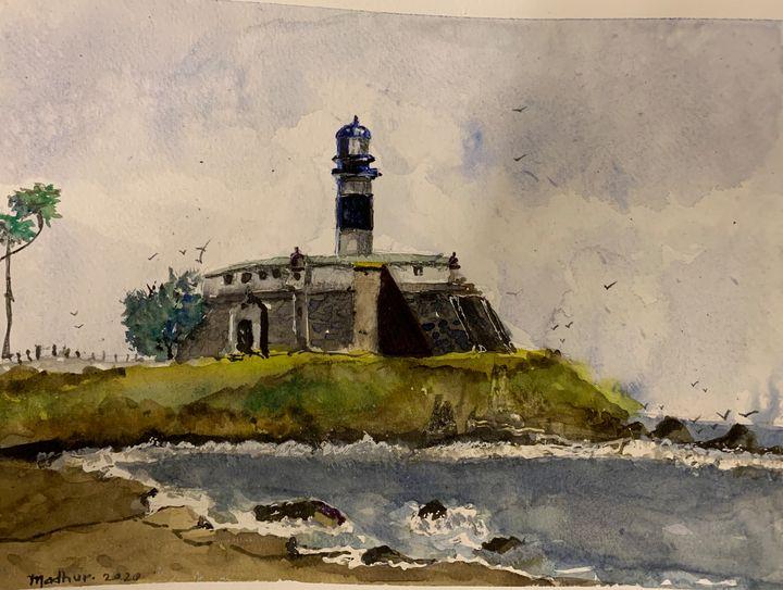 Bahia Brazil Lighthouse - Madhur's art