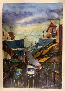 Old Bazaar - Madhur's art