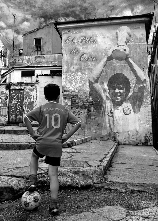 El Pibe De Oro - Diego Maradona - Donovan Torres Photography