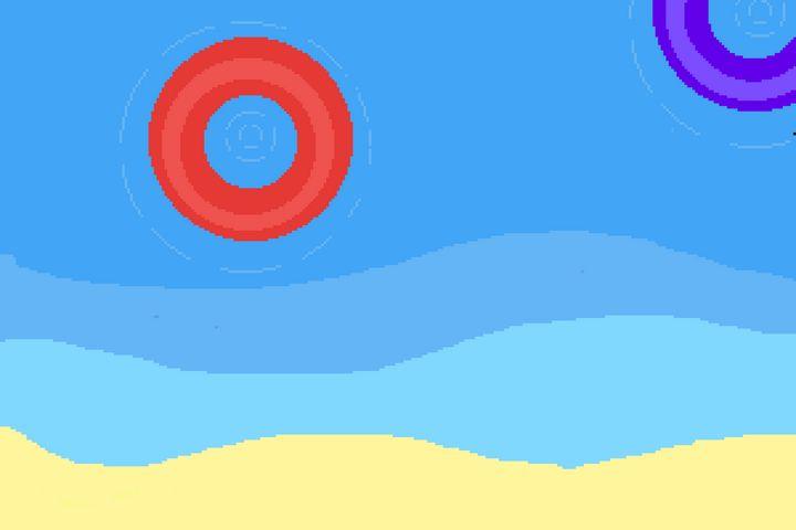 Beach - pixelart