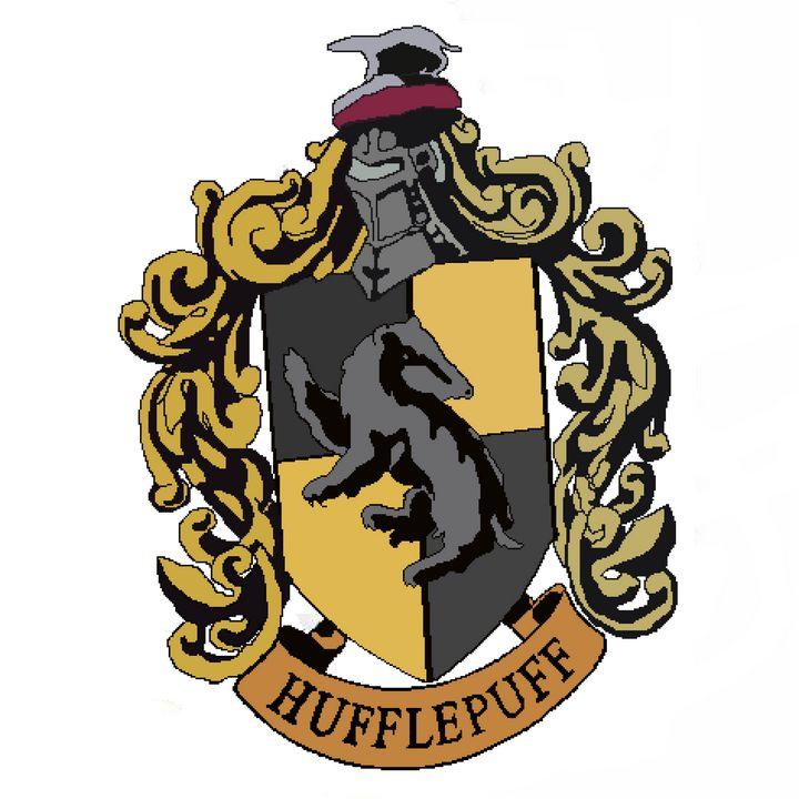 Hufflepuff logo - pixelart
