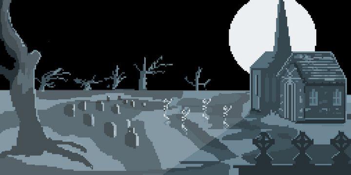 Graveyard - pixelart