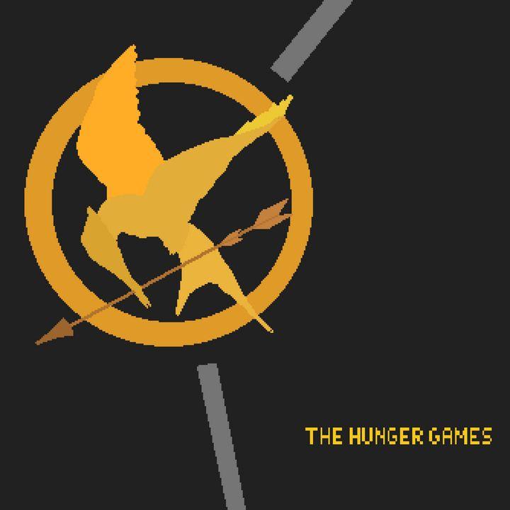 Hunger games logo - pixelart