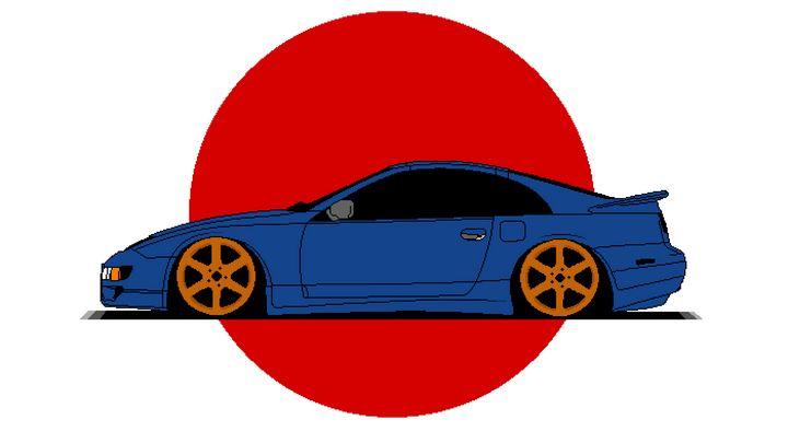 Nissan 300ZX - pixelart