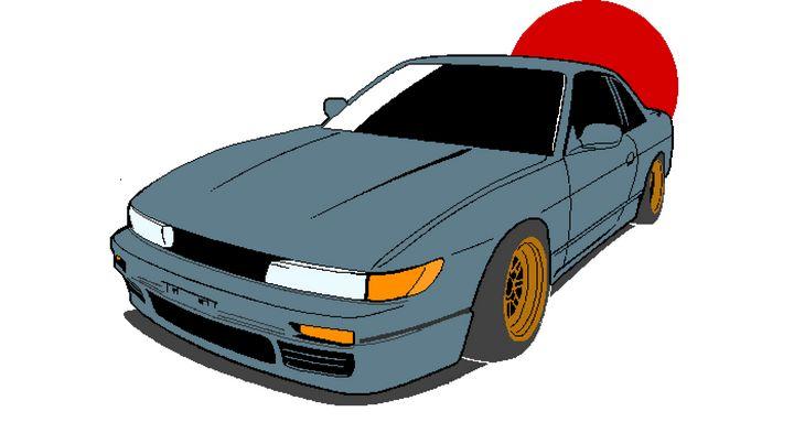 Nissan Silvia S13 - pixelart