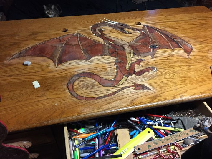 Dragons desk - Art by Steven Rupe