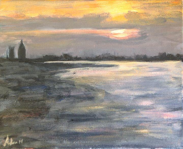 Sunset From the Causeway - Art of Adam Underwood